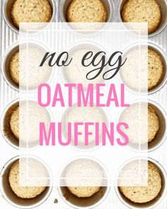 Basic Ingredient Brown Sugar Oatmeal Muffins An easy dairy-free and egg-free recipe when your pantry is getting low. Gluten-free note below, too! Egg Free Recipes, Allergy Free Recipes, Muffin Recipes, Dairy Free Muffins, Dairy Free Eggs, Brown Sugar Oatmeal, Milk Allergy, Oatmeal Muffins, Food Allergies