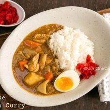 Delicious Japanese chicken curry recipe for a quick weeknight dinner. Made with homemade roux and garnish with soft boiled egg. Easy Japanese Recipes, Asian Recipes, Healthy Recipes, Ethnic Recipes, Asian Foods, Japanese Chicken Curry, Japanese Curry, Japanese Food, Japanese Dishes