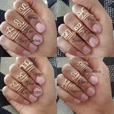 Zodiac Sign Midi Wire Rings by ZODIS on Etsy, $8.00