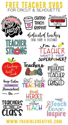 Teacher Appreciation Gifts, Teacher Gifts, Teacher Stuff, Cricut Tutorials, Cricut Ideas, Cricut Craft, Circuit Projects, Branding, Free Svg Cut Files