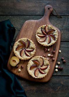 Morning Hazelnut Plum Tarts   Desserts for Breakfast