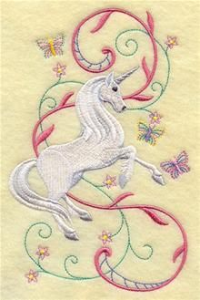 Machine Embroidery Designs at Embroidery Library! - Fairies and Unicorns