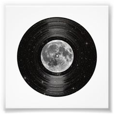 Moon In Space Vinyl Lp Record Photo Print - Custom Prints Vinyl Record Projects, Records Diy, Vinyl Lp, Vinyl Music, Vinyl Poster, Dj Music, Vinyl Decals, Wall Decals, Record Wall Art