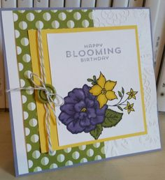 Stampin' Up! I Like You Flower Patch