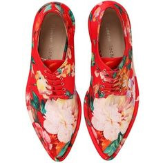 SIMONE ROCHA 30mm Printed Faux Leather Derby Shoes