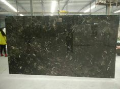 chinese dark emperador marble slab, 18mm thick and epoxy resin polished