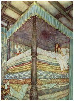 Edmund Dulac, The Princess and the Pea