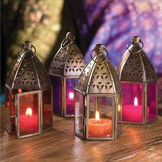 Moroccan style mini glass lantern, 7x13x7cm - Indian Furniture | Elephant Interiors