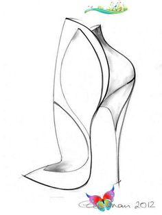 Shoe Sketch - fashio Shoe Sketch - fashion illustration; footwear drawing // Georgina Goodman #footwear<br> Sketch Fashion, Shoe Sketches, Designer Shoes, Footwear, Drawings, Illustration, Shoe, Illustrations, Sketch