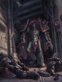 Warhammer Paint, Warhammer 40k Art, Warhammer 40k Miniatures, Sons Of Horus, The Horus Heresy, Fantasy Miniatures, Geek Art, Bioshock, Space Marine