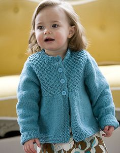 Diy Crafts - Ravelry: Princess Child's Smocked Cardigan pattern by Jessica Cute Free Pattern Baby Knitting Patterns, Baby Cardigan Knitting Pattern Free, Knitted Baby Cardigan, Knitted Baby Clothes, Knitting For Kids, Free Knitting, Toddler Sweater, Diy Bebe, Baby Kind
