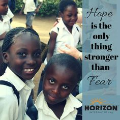Hope is the only thing stronger than fear. #GOSENDSPONSOR