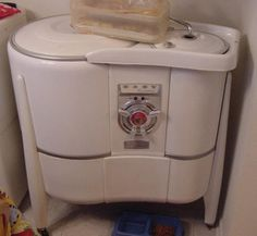 A hand crank washing machine!