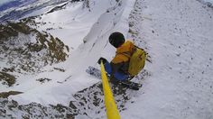 Skiing Once is Enough Couloir at @jacksonhole
