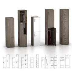 Watson Desking : ZONE™ Personal Storage Lockers -- available in laminate only