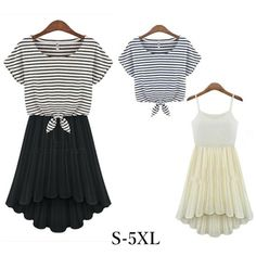 """Material: made of cotton and chiffon  Colors: Apricot stripe/Black stripe   Size reference:   Outer top: <table border=""""1"""" style="""" border:1px solid #000000;border-collapse:collapse;"""" cellpadding=""""3""""font-family:Arial;><tr style=""""font-weight:bold;background-color:#FFFFFF;font-family:Arial;"""">..."""