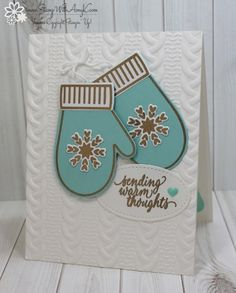 Stampin' Up! Smitten Mittens CAS Card – Stamp With Amy K