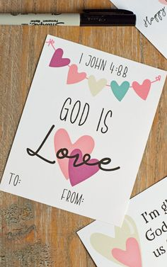 FREE Printable Inspirational Classroom Valentines for Kids contain Bible verses and more!