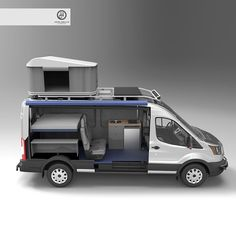 Built into the new #fordtransit , here is another layout and render I did for a custom build going on in the states.