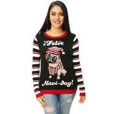 Ugly Christmas Sweater Women's Feliz Navi-dog! Sweater