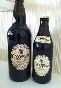Personalized Beer Labels. Fun way to ask groomsmen and the best man or use as wedding favors. by CustomHandmadeGifts, $4.00