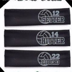Volleyball Headband Personalized Volleyball by XtremeBowtiqueBows