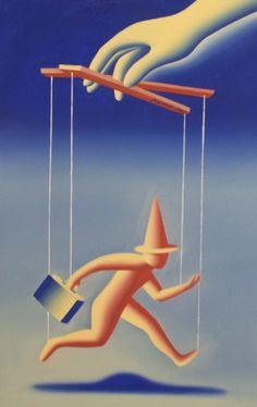 Control Freak 1992 21x29 by Mark Kostabi
