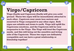 Do capricorns and virgos get along