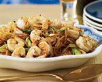 Pan-Seared Sichuan Shrimp with Mung Bean Noodles