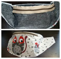 Today I would like to show to you how to sew a fanny pack/waist bag. Contarary to appearances it is not very hard. To execute it you will need: about of fabric, the same amount of heat activated adhesive interfacing, zip, c. Fanny Pack Pattern, Bag Pattern Free, Hip Bag, Handmade Handbags, Clothing Items, Leather Purses, Fabric, Couture, Chain