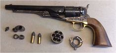 Nedbal Uberti Colt 1860 Thuer: C&B cylinder installed, loading tool, conversion cylinder & ring and 2 Thuer cartridges Revolvers, Firearms, Hand Guns, Weapons, Navy, Ring, Books, Weapons Guns, Hale Navy