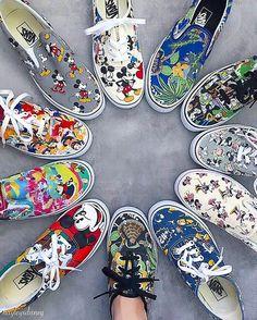 Vans Disney, Disney Shoes, Cute Disney Outfits, Disney World Outfits, Painted Jeans, Hand Painted Shoes, Cute Vans, Cinderella Slipper, Mode Kawaii