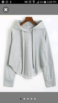 Drawstring Uneven Hem Hoodie - Light Gray M Pretty Outfits, Cool Outfits, Look Fashion, Fashion Outfits, Hoodies For Sale, Mode Hijab, Pull, Sport Outfits, Hooded Sweatshirts