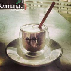 Buongiorno a tutti! Φίνος κρύος ιταλικός εσπρέσο με κρέμα! #comunale #espresso #italian_touch