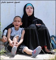 after demolition of their home by Israeli terrorists and thugs.