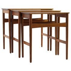 Hans J. Wegner Nesting Tables | From a unique collection of antique and modern nesting tables and stacking tables at https://www.1stdibs.com/furniture/tables/nesting-tables-stacking-tables/