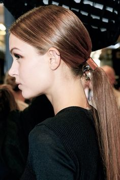 pretty cuffed ponytails