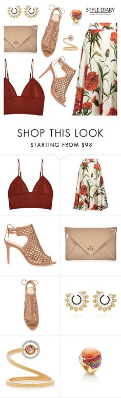 """Style Diary"" by dressedbyrose ❤ liked on Polyvore featuring Fleur du Mal, Dolce&Gabbana, Alexandre Birman, Vivienne Westwood, Nikos Koulis, Marie Mas, Lydia Courteille, ootd, luxury and polyvoreeditorial"