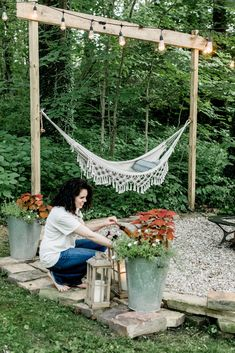 The Top Reasons to Build Outdoor Firepit – Pool Landscape Ideas Backyard Hammock, Fire Pit Backyard, Backyard Patio, Backyard Projects, Outdoor Projects, Backyard Ideas, Firepit Ideas, Fire Pit Area, Fire Pit Gravel Area