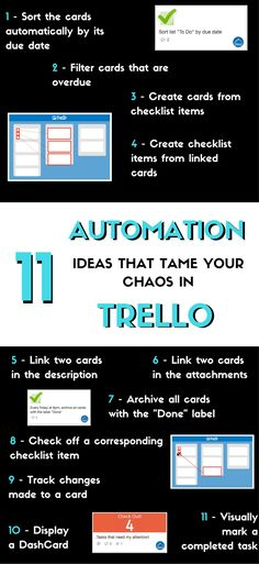 In this second part about how to automate your Trello boards, I am introducing 11 hacks you can use to automate tasks you didn't know were even possible manually! Set up workflows and get work done! Time Management Tips, Project Management, Business Tips, Online Business, Business Meme, Business Quotes, Trello Templates, Graphic Design Software, Evernote
