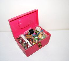 Sewing Notions and Box by CheekyVintageCloset on Etsy, $22.00
