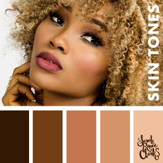 Skin color palette | Learn how to color skin tones with colored pencils or markers with these 10 video tutorials. Learn new blending techniques and handy tips for coloring skin. | Skin coloring tutorials and color palettes at www.sarahrenaeclark.com