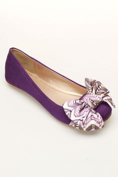 Qupid Thesis-151 Ballet Flats In Purple