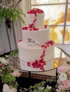 フルーツと桜のウエディングケーキ♥