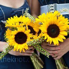 Large sunflowers wedding