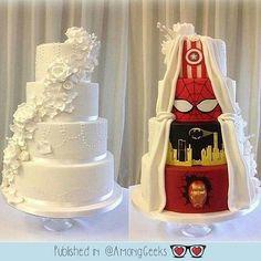 Geek wedding  . . . #marve #spiderman #ironman #batman #captainamerica  #Adorable #Kawaii #Sweet #Cute #Pastel #Pastelgoth #grunge #pastelgrunge #Scene #Alternative #Anime #Manga #Otaku #Gamer #Nerdy #Nerd #Comic #Geek #Geeky