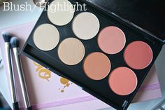 Gorgeous cosmetics palette 8 pan blush highlight review swatches