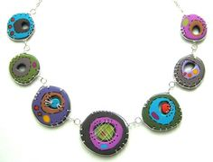 Polymer Clay Fine Art | gRIS bLEu makes unique jewlery combining polymer clay and wire. I love ...