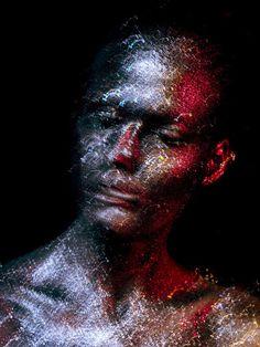 Alex Buts on behance, stunning #photography & #makeup #art #neon