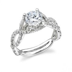 Stardust Pave Diamond Engagement Ring